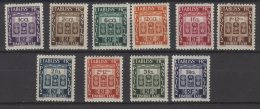 Inde Série Taxe N° 19 / 28 Neufs Avec Charnières * - Unused Stamps