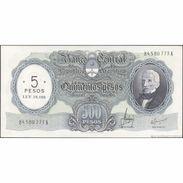 TWN - ARGENTINA 283b - 5/500 Pesos 1969-71 Serie A - Signatures: Mastropierro & Ianella AU - Argentinien