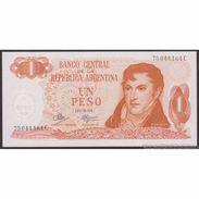 TWN - ARGENTINA 287c - 1 Peso 1970-73 Serie C - Signatures: Mancini & Brignone UNC - Argentine