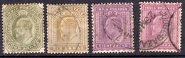 India 1902 4a 6a 8a Purple 8a Claret - Fine Used - 1902-11 King Edward VII