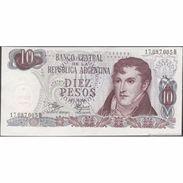 TWN - ARGENTINA 289d - 10 Pesos 1970-73 Serie B - Signatures: Mancini & Brignone AU/UNC - Argentina