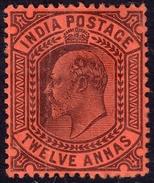 India 1902 12 A SG135 - Mint Previously Hinged - 1902-11 King Edward VII