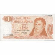 TWN - ARGENTINA 293 - 1 Peso 1974-76 Serie E - Signatures: Cairoli & Morales XF+ - Argentina