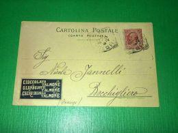 Cartolina Pubblicità - Cioccolato Gianduiotti E Cacao TALMONTE 1909 - Pubblicitari