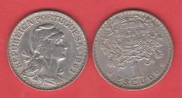 PORTUGAL  1 ESCUDO 1.961  Cu Ni/ALPACA  KM#578   MBC/VF  T-DL-12.010 - Portugal