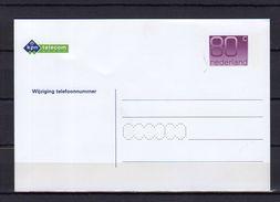 Wijziging Telefoonnummer Geuzedam No. 5 Mint (ek18) - Postal Stationery