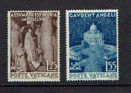 VATICAN...1951...Scott#143-4...mh - Unused Stamps