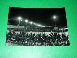 Cartolina Rimini - Notturno Dal Piazzale Tripoli 1955 Ca - Rimini