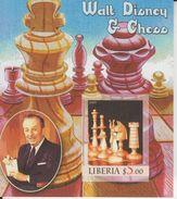 Liberia  2005  Walt Disney & Chess   Imperf M/S  # 91527 - Chess