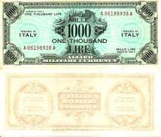 ITALIE - ITALY - 1000 LIRE 1943A - Pick M23a NEUF (AUNC) - Unclassified