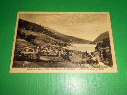 Cartolina Saluti Dal Lago - Pontechianale Maddalena E Castello 1949 - Cuneo