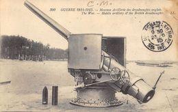 CPA MILITARIA MOYENNE ARTILLERIE DES DREADNOUGHTS ANGLAIS GUERRE 1914 1915 - Materiaal