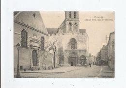 ETAMPES L'EGLISE NOTRE DAME RT L'HOTEL DIEU (MAGASIN DE CHAUSSURES ROUSSARD) 1917 - Etampes