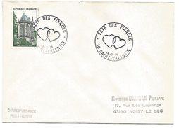 OBLITERATION FETE DES FIANCES à SAINT VALENTIN INDRE 1975 - Matasellos Conmemorativos