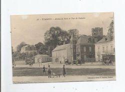 ETAMPES 58 AVENUE DE PARIS ET TOUR DE GUINETTE (PETITE ANIMATION) 1916 - Etampes