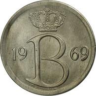 Belgique, 25 Centimes, 1969, Brussels, TTB+, Copper-nickel, KM:153.1 - 02. 25 Centimes