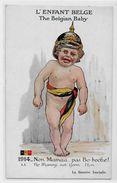 CPA Enfants Satirique Guerre 14-18 Patriotique Germany Kaiser Guillaume II Non Circulé - Satiriques