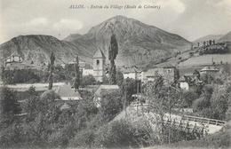 Allos - Entrée Du Village (Route De Colmars) - Carte Non Circulée - Autres Communes