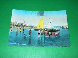 Cartolina Viserba - La Spiaggia 1960 - Rimini