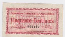 Billet De Carcassonne Cinquante Centimes  Du 30Juin 1917  Pick 11 - Cámara De Comercio