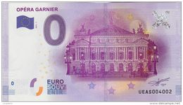 BILLET TOURISTIQUE 2016 PARIS OPERA GARNIER - EURO