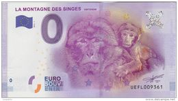 BILLET TOURISTIQUE 2016 LA MONTAGNE DES SINGES KINTZHEIM - Essais Privés / Non-officiels