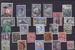 CEYLAN : Y&T : Lot De 25 Timbres Oblitérés - Sri Lanka (Ceylon) (1948-...)
