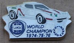 VOITURE LANCIA - WORLD CHAMPION 1974-75-76 - RALLYE - CAR -                 (JAUNE) - Rallye