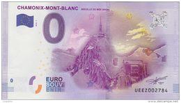 BILLET TOURISTIQUE 2016 CHAMONIX MONT BLANC AIGUILLE DU MIDI - EURO