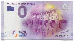 BILLET TOURISTIQUE 2016 CHATEAU DE CHENONCEAU - EURO