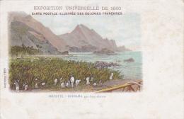 Carte Illustrée - Mayotte - Diorama Par Paul Marsac - Exposition Universelle De 1900 - Circulé Sans Date, Sous Enveloppe - Mayotte