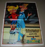 Supplément Spirou Du N° 2317 Poster Recto Verso; Génial Olivier Et La Dernière Panhard La 24 CT - Spirou Magazine