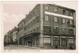 Macon, L'Hôtel Terminus Et Rue Victor Hugo (pk35342) - Macon