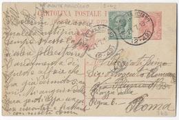 STORIA POSTALE REGNO - ANNULLO FRAZIONARIO MONTEMARCIANO 2-42 SU INTERO LEONI 36B/18   21.07.1919 - 1900-44 Vittorio Emanuele III
