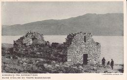 CPA. GROENLAND.  Ruine D'église Du Temps Scandinaves. ..D897 - Groenland