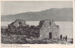 CPA. GROENLAND.  Ruine D'église Du Temps Scandinaves. ..D897 - Greenland