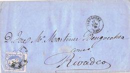 24639. Envuelta TARRAGONA 1870. Rueda De Carreta Modificada  46. Alegoria - Cartas