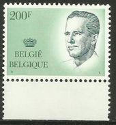 Belgium - 1986 King Baudouin 200fr MNH **    Sc 1234 - Belgium