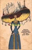 CPA ILLUSTRATEUR SPORTS NAUTIQUES CHAPEAU BAIN DE MER POUR 1910 ENVOYER DE RENAIX RONSE - Mode