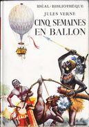 """Cinq Semaines En Ballon""- Jules VERNE-Hachette-1951--BE/TBE - Ideal Bibliotheque"
