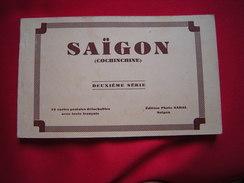 Saïgon (Cochinchine) Carnet (complet) 12 CP, Deuxième Série, Photos Nadal - Viêt-Nam