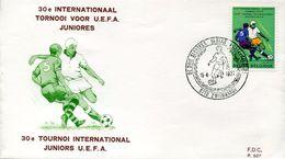 22562  Belgium, Fdc 1977  Tournoi  UEFA Juniores. - Championnat D'Europe (UEFA)