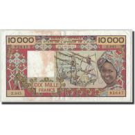 West African States, Côte D'Ivoire, 10,000 Francs, Undated (1977-92), KM:109Aj, - West African States