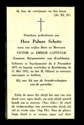 BURGEMEESTER KOOLSKAMP - PALMER SCHOTTE - INGELMUNSTER 1875 - KOOLSKAMP 1951 - Obituary Notices