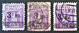 SURCHARGE 1921 - OBLITERES * - YT 230 - VARIETES DE TEINTES ET DE SURCHARGES - 1919-1939 Republik