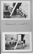 Meuse Avril 1916 Levoncourt Toilette Des Officiers Q.G Du Gal.Mangin 5è D.I 2 Photos Ww1 - War, Military