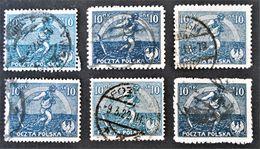SEMEUR 1922 - OBLITERES - YT 224 - VARIETES DE TEINTES ET D'OBLITERATIONS - Gebraucht