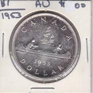 MONEDA DE PLATA DE CANADA DE 1 DOLLAR DEL AÑO 1953   (COIN) SILVER,ARGENT. - Canada