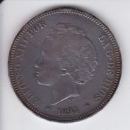 MONEDA DE ESPAÑA DE 5 PTAS DEL AÑO 1894 DE ALFONSO XIII - 18-94  (COIN) SILVER-PLATA-ARGENT - [ 1] …-1931 : Reino