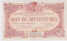 Billet  C.D.C. De L' Orient  Neuf  50 Cts.  3  9  1915 - Chamber Of Commerce